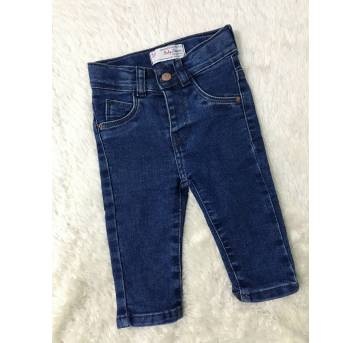 Calça Jeans Baby - 3 a 6 meses - baby Demim