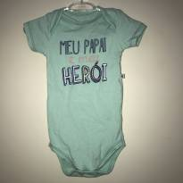Body Meu Papai meu herói - 3 a 6 meses - Teddy Boom