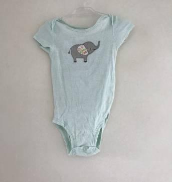 Kit de body carters 3 Peças Elefantinho - 3 a 6 meses - Carter`s e carter`s, baby gap, zara