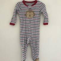 Pijama com zíper Carters - 6 a 9 meses - Carter`s e carter`s, baby gap, zara