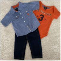 Conjunto calça jeans Polo Ralph Lauren ORIGINAL - 6 a 9 meses - Polo Ralph  Lauren Réplic