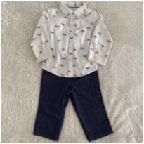 Conjunto Carter's camisa e calca - 1 ano - Carter`s e H&M, Carters e C&A