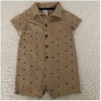 Romper Carter's macaquinho menino - 9 a 12 meses - Carter`s e carter`s, baby gap, zara