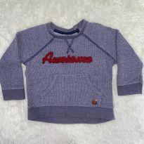 Blusa moletom menino - 9 a 12 meses - Teddy Boom
