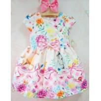 5abe0269e INFANTO GUI E BI Vestido Mon Sucre floral. Marca: Mon Sucré [ 6 anos ] R$  79,99