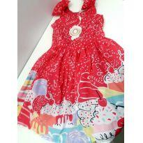 Vestido estampado Mon Sucré - 3 anos - Mon Sucré