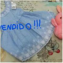 !!!VENDIDO!!! vestido na cor azul jeans - 9 a 12 meses - Primark