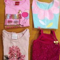 Kit blusas menina tamanho 4 - 4 anos - Kyly / Mais outra marca