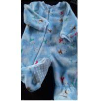 tip top fleece importado azul c/ ursos polar - 9 a 12 meses - Green