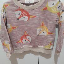 blusa de moletom raposa esperta - 9 a 12 meses - Não informada