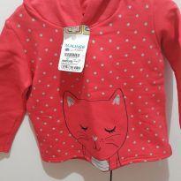 blusa de moletom gatinho - 1 ano - Malwee