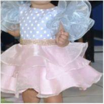 Vestido de festa candy (galinha pintadinha) - 1 ano - Le Petit