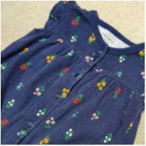 Romper azul marinho + florzinhas Carters - 3 meses - Carter`s