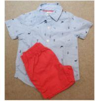 Conjunto camisa + bermuda Carters - 1 ano - Carter`s