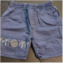 Bermuda jeans com elástico - 3 a 6 meses - Ano Zero