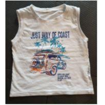 Camiseta cavada carro - 1 ano - Não informada