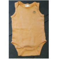 Body sem manga laranja - 3 a 6 meses - Up Baby