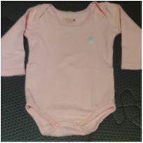 Body rosa manga longa - 0 a 3 meses - Kiko