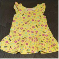 Vestido amarelo florzinhas - 3 a 6 meses - Duduka