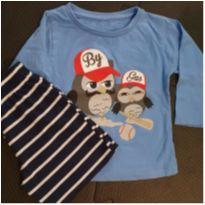 Pijama frio azul - 1 ano - Não informada