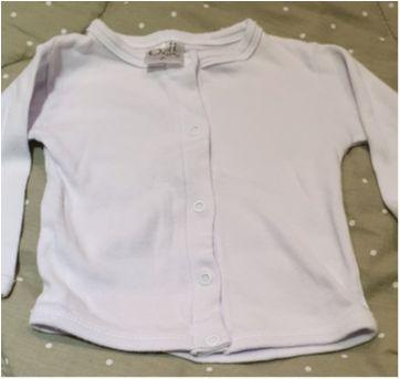 Conj branco casaco + calça - 0 a 3 meses - Odi Baby