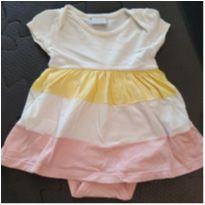 Body vestido listrado - 3 a 6 meses - Baby Way