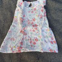 Vestido flores viscose - 3 a 6 meses - yoyo Baby