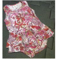 Body vestido estampado - 3 a 6 meses - Piu Blu