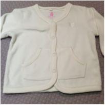Casaco off white em plush - 3 a 6 meses - Baby Club