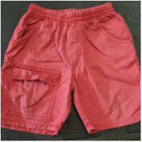 Shorts jeans vermelho - 6 a 9 meses - Ano Zero