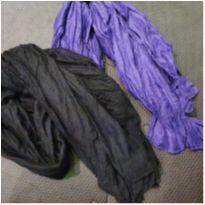 Kit de lenços preto e roxo -  - Não informada
