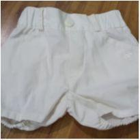 Shorts branco - 3 meses - Baby Cottons