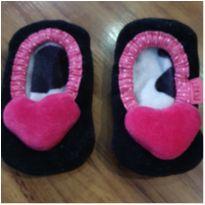 Meia/sapatilha com antiderrapante coração - 1 ano - Puket