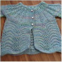 Casaco de tricot bem delicadinho - 3 a 6 meses - Não informada