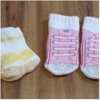 Kit meias bebê - 6 meses - Não informada