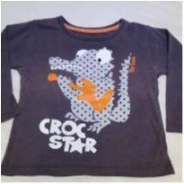 Camiseta manga longa crocodilo - 2 anos - Não informada