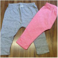 Kit calças rosa e cinza - 9 meses - Carter`s