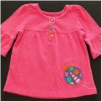 Bata pink joaninha - 9 a 12 meses - Carter`s
