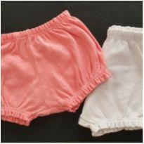 Kit shorts branco e rosa - 6 meses - Best Club