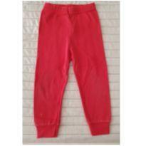 Calça vermelha - 9 a 12 meses - sem etiqueta