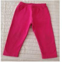 Calça moletom pink - 9 a 12 meses - sem etiqueta