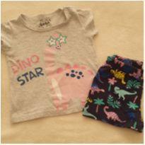 Pijama dinos - 6 a 9 meses - Gaga Baby