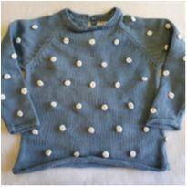 Casaco azul com bolinhas - 9 a 12 meses - Teddy Boom