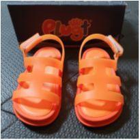 Sandália laranja - 19 - plugt