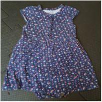 Vestido body florzinha/azul - 18 meses - Carter`s