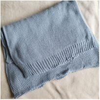 Manta em tricot azul claro -  - Tok Stok