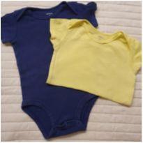 Kit bodies amarelo/azul - 9 meses - Carter`s