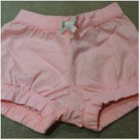 Shorts jeans rosa - 6 meses - Carter`s