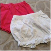 Kit shorts rosa e branco - 9 meses - Carter`s e Best Club
