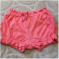 Shorts rosa - 6 meses - Teddy Boom